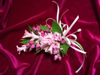 Hyacinth and Baronia Corsage