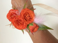 Orange Rose Wrist Corsage