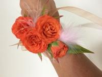 Orange Rose Wrist Corsage
